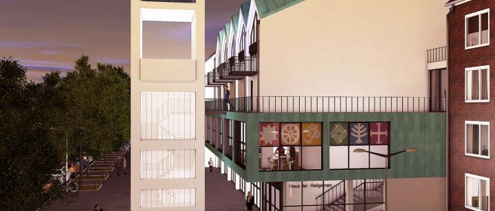 Architektenentwurf des neuen Hauses der Religionen